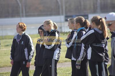 Start, D2 Girls - 2012 MHSAA LP XC Finals