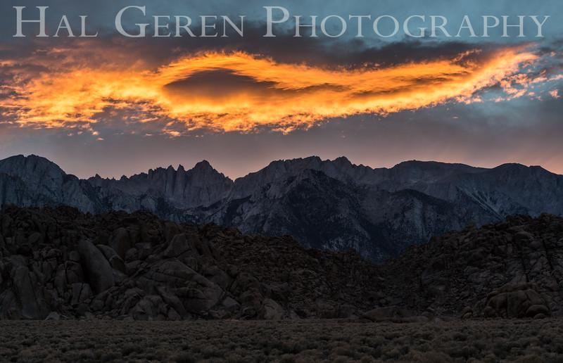 Alabama Hills Sunset Lone Pine, California 1610S-AHS1