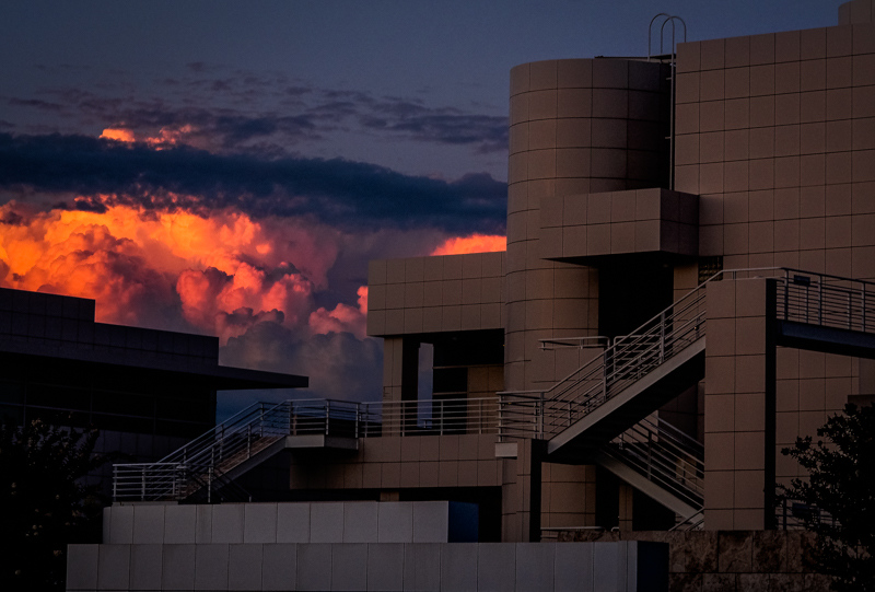 September 9 - Sunset behind the Getty, Los Angeles.jpg