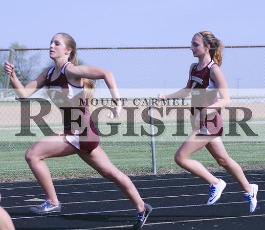 2016 - Mount Carmel Girls Track vs Vincennes Lincoln