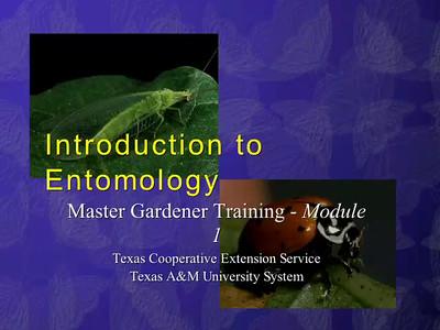 Master Gardener Entomology Training Units