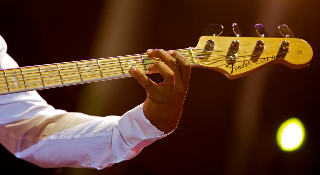 Marcus Miller at Jazz à Juan 2010 8<br /> Marcus Miller and the Philharmonic Orchestra of Monte-Carlo  in concert at Jazz à Juan 2010