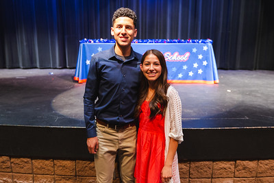Americas Isaac Flores and Jackie Aguilar Signing