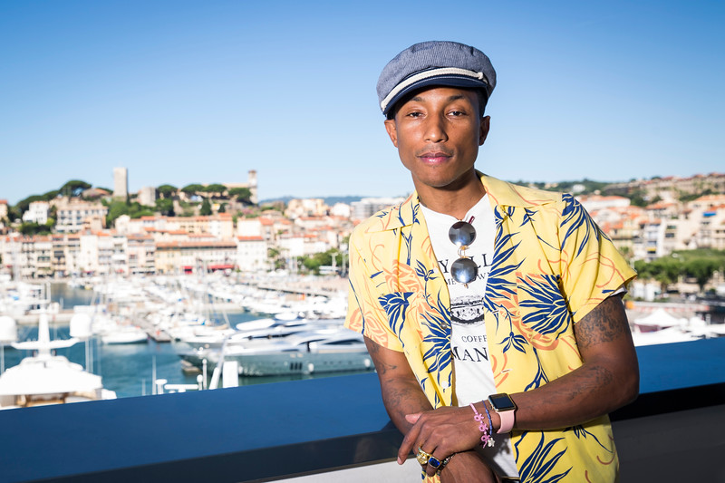 Pharrell Williams / Music Producer, Rapper, Artist / Cannes, France, 2015