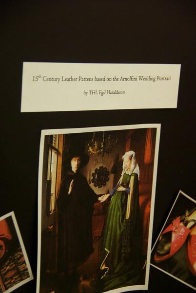15th C Leather Pattens based on the Arnolfini Wedding Portrait - THL Egil Haraldsson (Gulf Wars Champion)