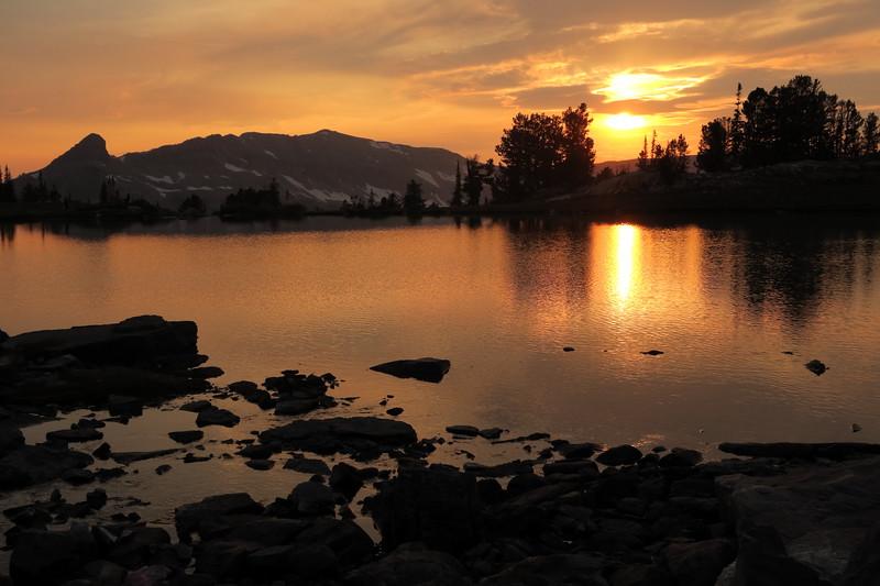 Sunset Lake at sunset - Alaska Basin Shelf - Grand Teton National Park