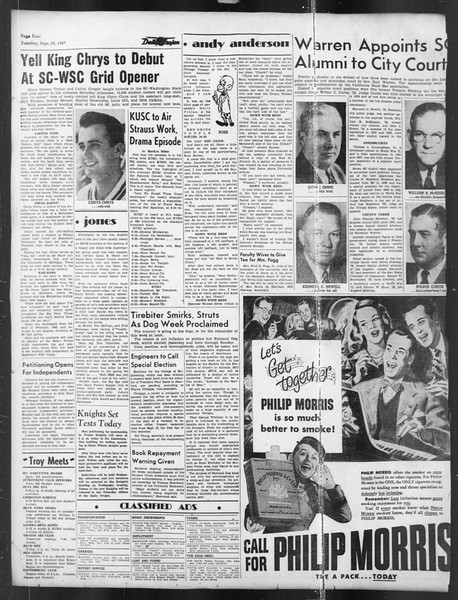 Daily Trojan, Vol. 39, No. 7, September 23, 1947