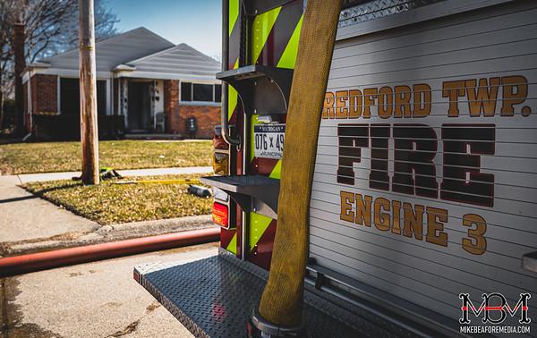 Redford MI, House Fire 3-6-2021