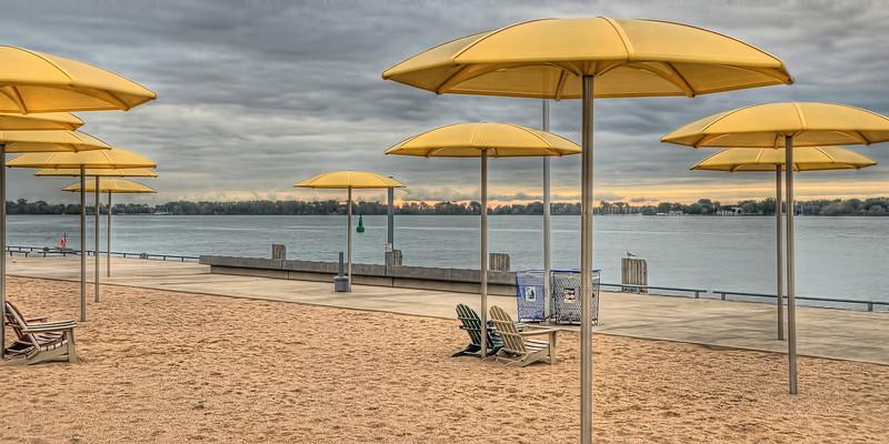 """""""Not so good today""""  HTO Park, one of Toronto's two urban beaches"""