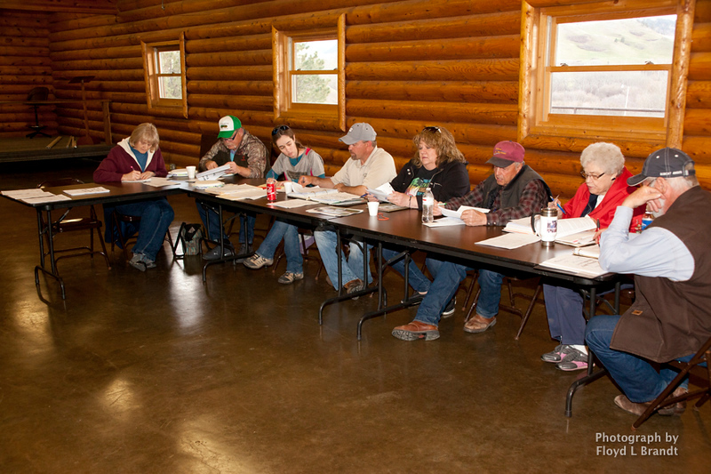 Havre Daily News/Floyd Brandt  The Park Board met at the kawans Camp Monday,