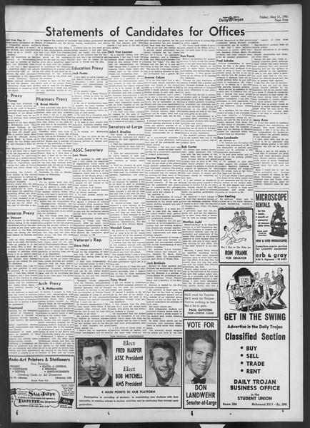 Daily Trojan, Vol. 42, No. 128, May 11, 1951