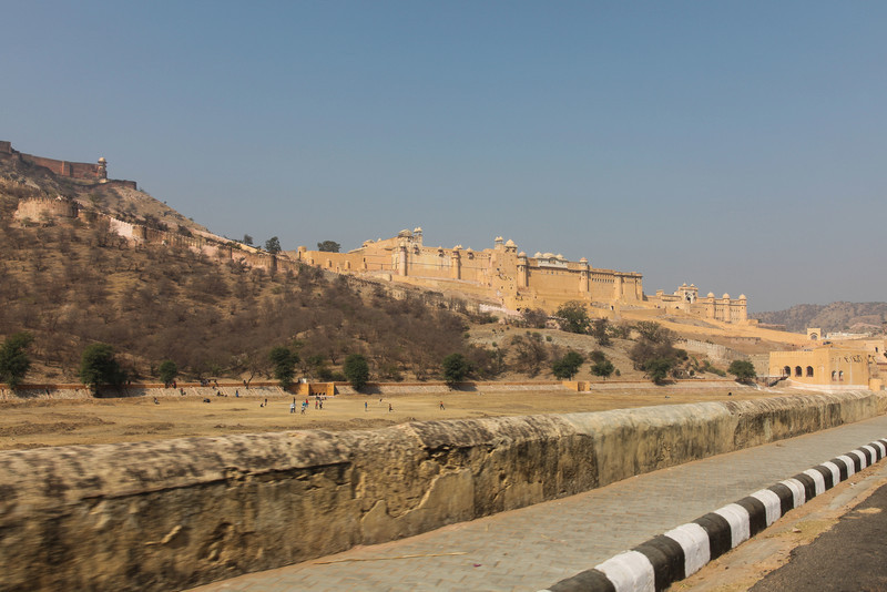 Amber Fort up on the hill.