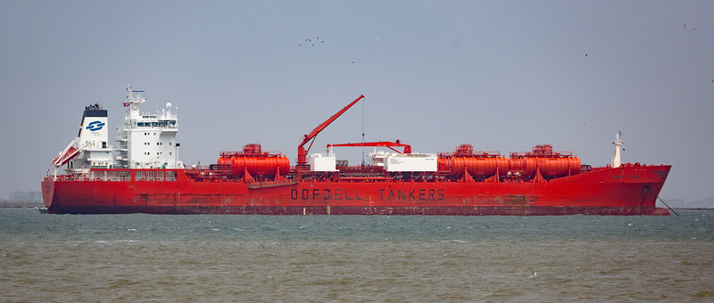 The Tanker Bowstar.  30,000 gross tons.