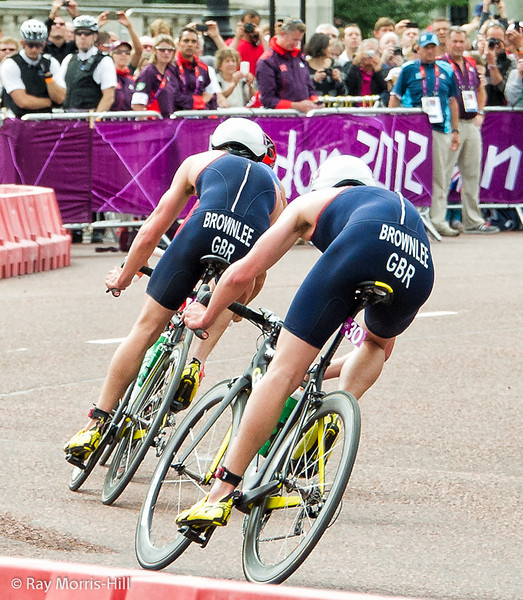The fabulous Brownlee boys - the view that most of the field had.