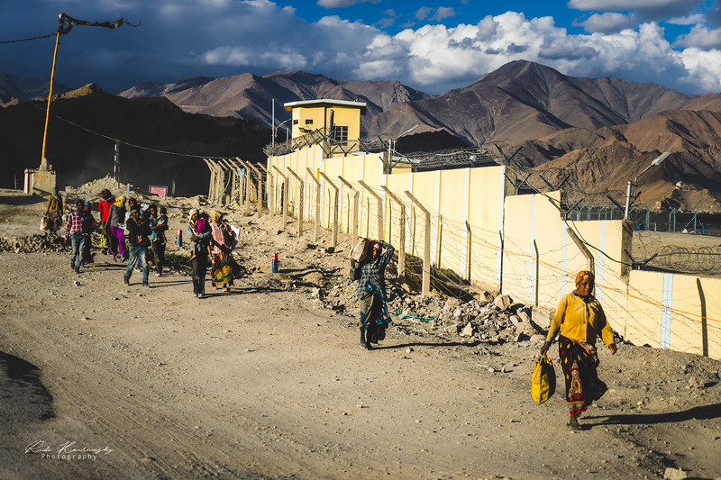Local people close to Leh