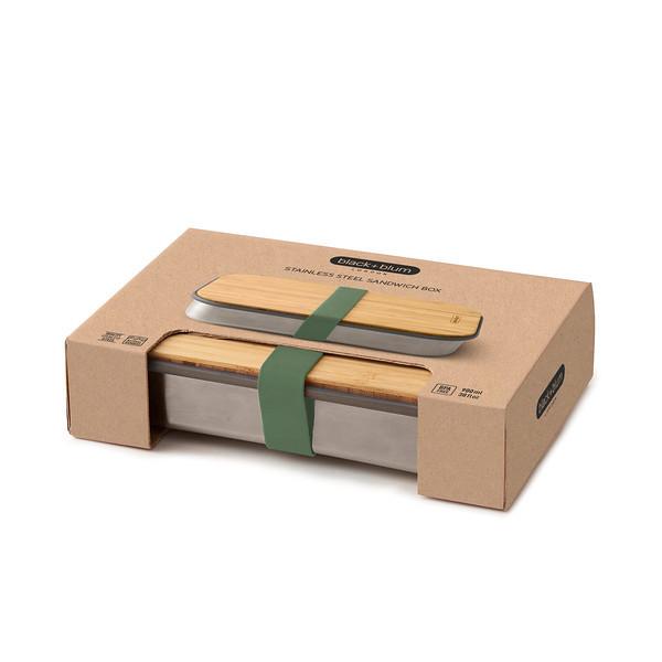 Stainless Steel Sandwich Box olive packaging Black Blum
