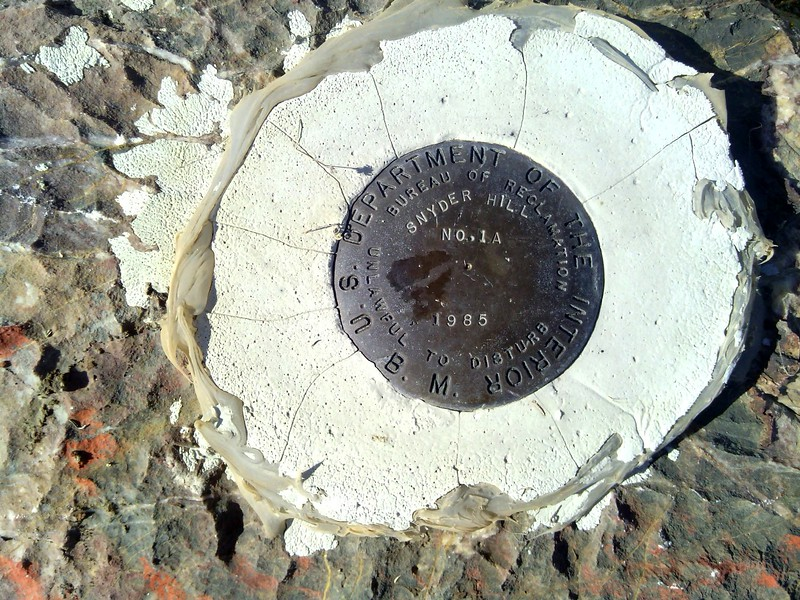 Snyderhill Survey Marker
