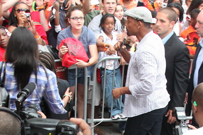 Will Smith accompanies his some Jaden Smith and Jackie Chan to the red carpet for the Chicago screening of the Karate Kid at the AMC River East 21 in Chicago, IL,  USA on Wednesday 26, May 2010.