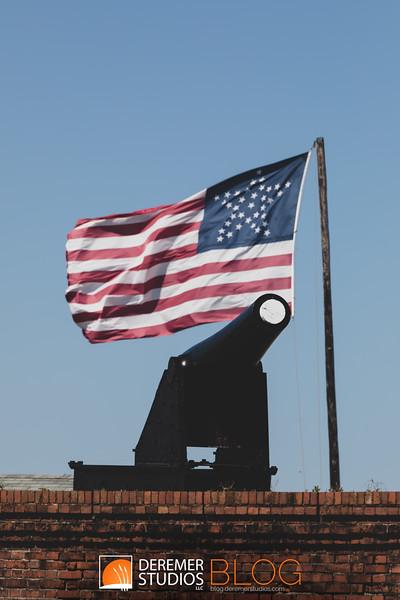 2019 Fort Clinch Flag 005A - Deremer Studios LLC