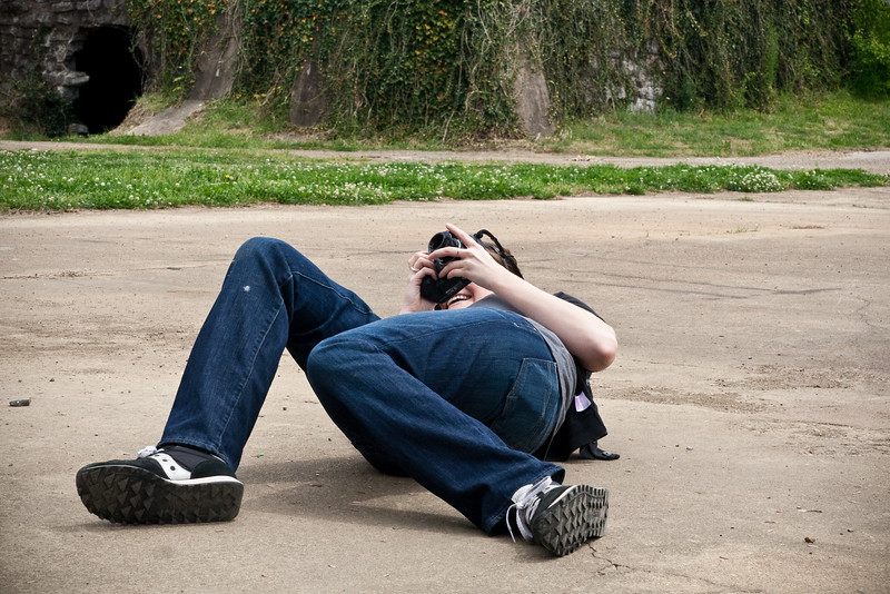 Sometimes photography involves collapsing into the dirt