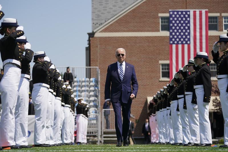 APTOPIX Coast Guard Academy Biden