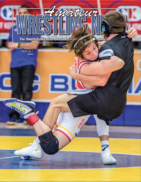 Amateur Wrestling News Cover, Feb, 2019