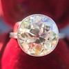 3.45ct Edwardian Old European Cut Diamond Bezel Ring 1
