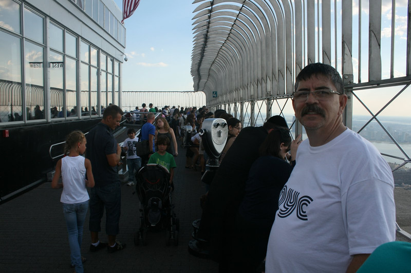 Joe at the top of The Empire State Building, New York City, New York