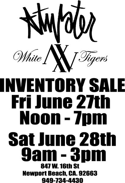 Atwater Inventory Sale