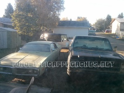 Silver Jeep LJ & Dodge Charger