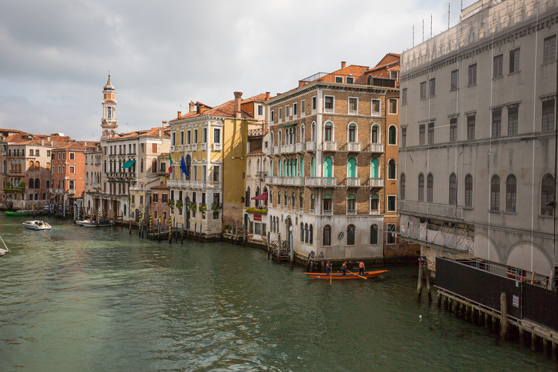 A view from the Rialto Bridge.