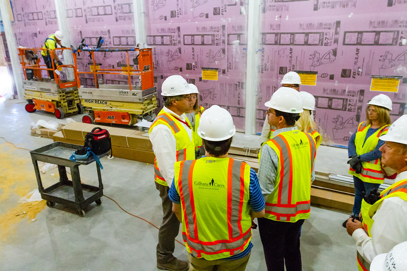 John Backman (left), Project Director, The New Norton, takes a group of Palm Beach Post staffers on a tour of the new construction at the Norton Museum of Art  in West Palm Beach on Tuesday, June 26, 2018. The New Norton is scheduled to open in February 2019. (Joseph Forzano / The Palm Beach Post)