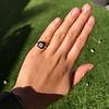 1.19ct Vintage Emerald Cut Diamond Onyx Ring, GIA E VS2 9