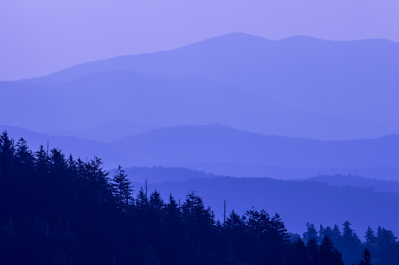 Blue Tones of the Great Smoky Mountains