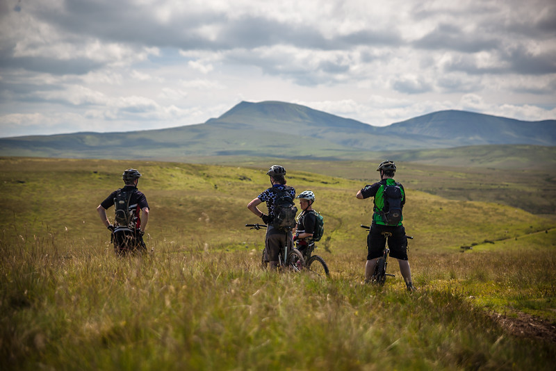 Mountain biking deep in the Brecon Beacons.