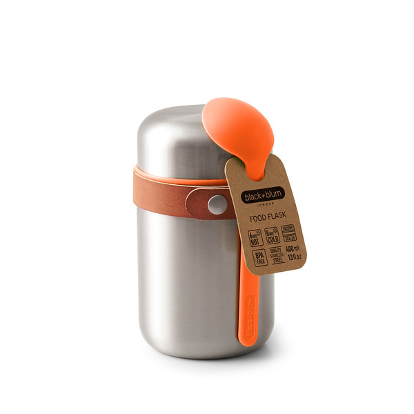 Food Flask orange packaging Black Blum