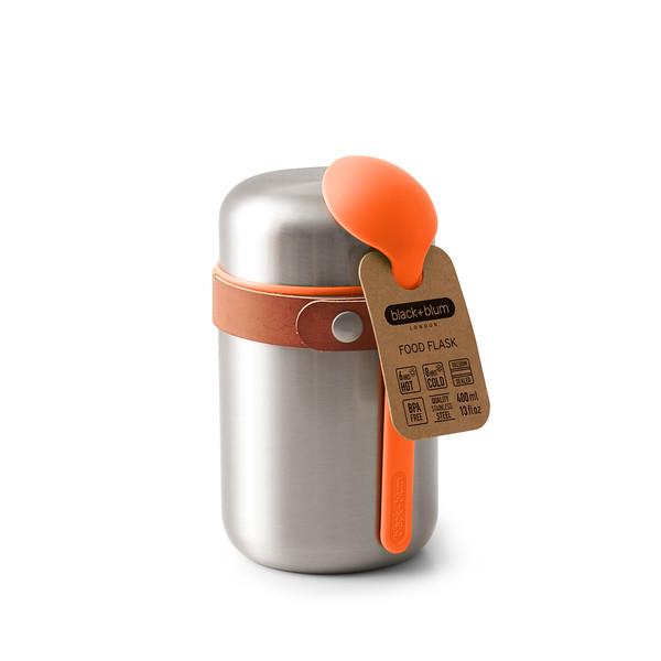Food Flask orange packaging Black Blum