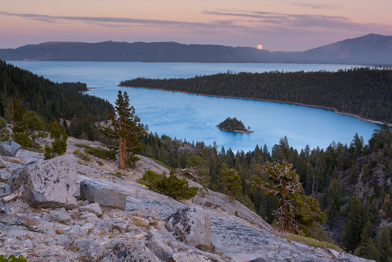 Lake Tahoe, Emerald Bay Moonrise