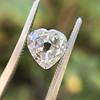 1.06ct Antique Heart Diamond GIA H SI1 3