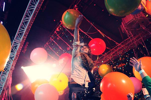 Wayne Coyne, The Flaming Lips, New Years Freakout 5. January 1, 2012. Oklahoma City, Oklahoma