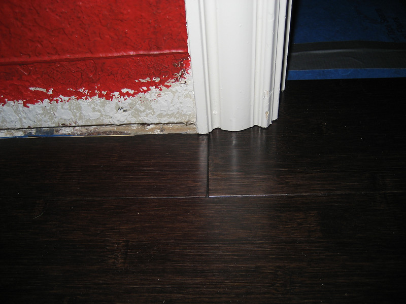 Closet flooring entry complete