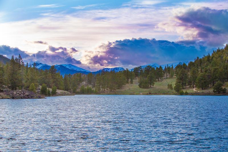 Sunset at Lily Lake,  elevation 8930'