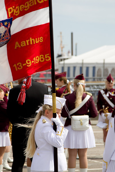 Marching band to greet us in Aarhus - Denmark