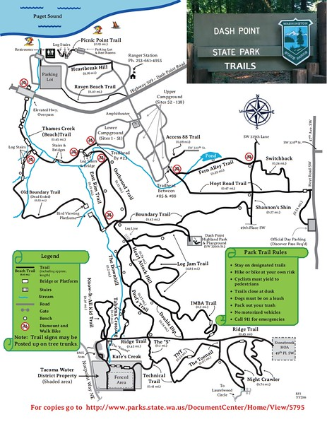 Dash Point State Park (Trail Map)