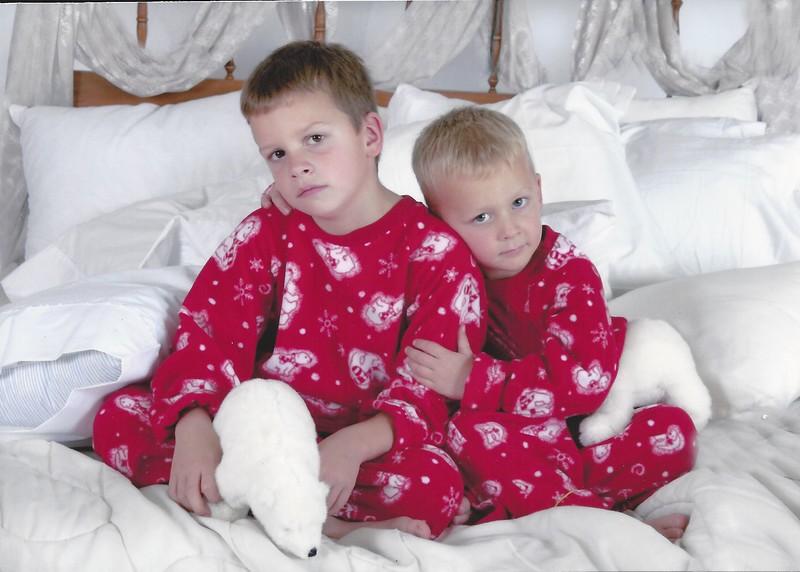 Caleb & Wyatt - Christmas '04