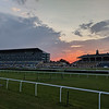 doncaster racecourse bathed in sunset