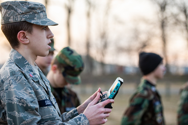Cadets at the Licking County Composite Squadron, a local unit of Civil Air Patrol located in Newark, Ohio, hone their skills of flying larger drones with cameras.