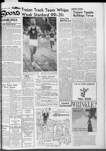 Daily Trojan, Vol. 47, No. 118, April 23, 1956