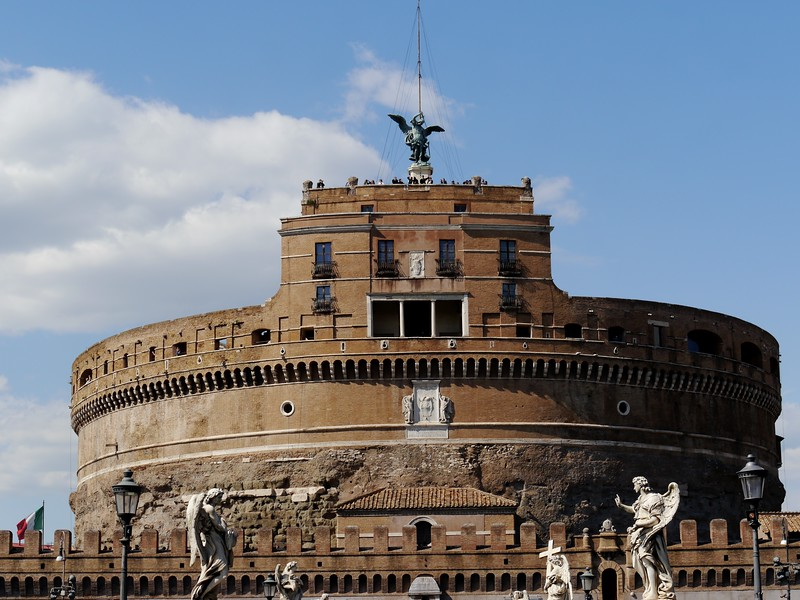 Castel st Angelo. Formerly the mausoleum of Hadrian.