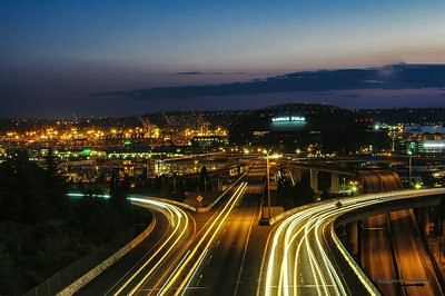 23 Aug 2014: Looking towards Safeco Field from the Jose Rizdal Bridge in Seattle